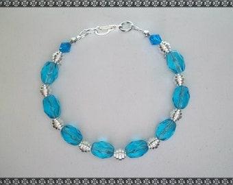 blue bracelet, light blue bracelet, turquoise bracelet