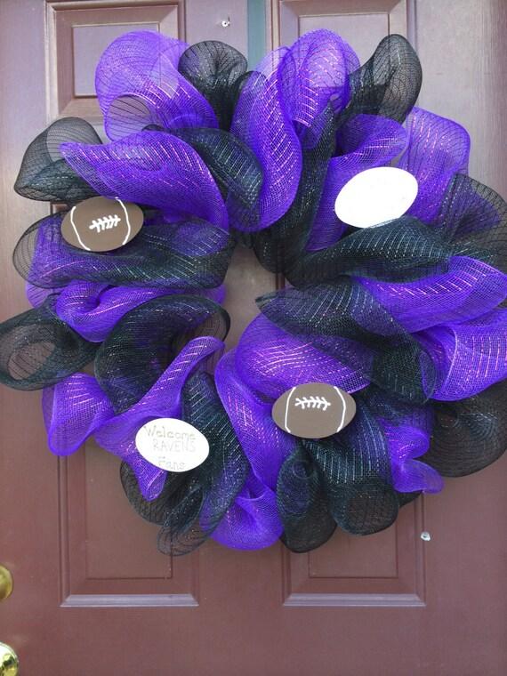 Raven Football Team Ravens Wreath Football Wreath