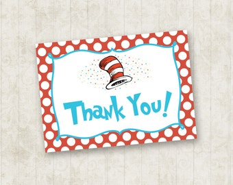 Cat in the Hat Thank You Card