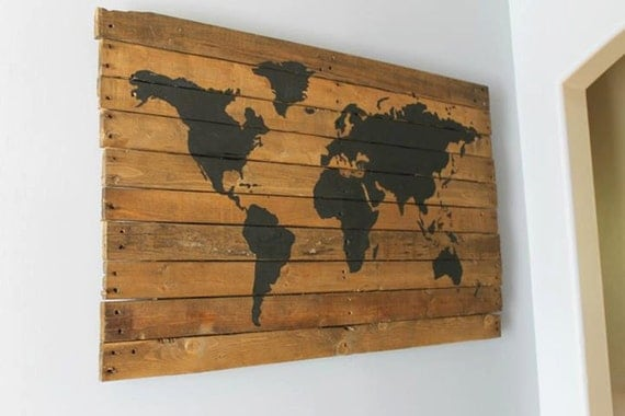 FREE SHIPPING Pallet wood repurposed travel by ...