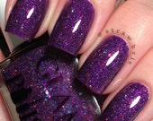 Maleficent Full Size Handmixed Glitter Indie Nail Polish from the A Touch of Magic Trio