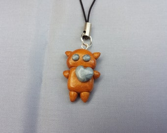 Robot polymer clay phone strap