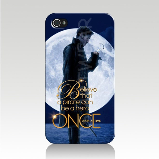 ... Believe IPhone 4/4s Case Cover-Killian Jones-Jolly Rogers-FASTShipping