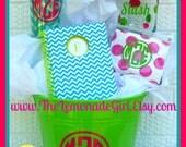 PERSONALIZED Basket, Personalized, Valentines Basket, Birthday Gift, Christmas Basket, Teacher Gift, Teen Gift, Basket