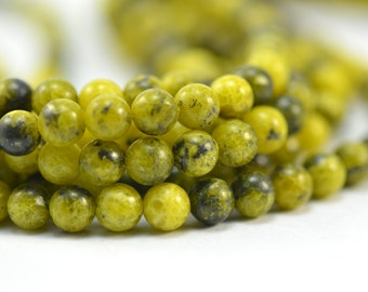 yellow turquoise, round, 6mm, yellow, gemstone bead, loose bead, stone bead, semiprecious stone, jewelry bead, jewelry making, wholesale