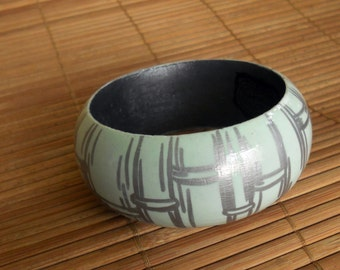 Bamboo Bangle (Cool Silver)