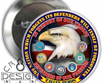 Nation Forgotton 3.5 inch  button