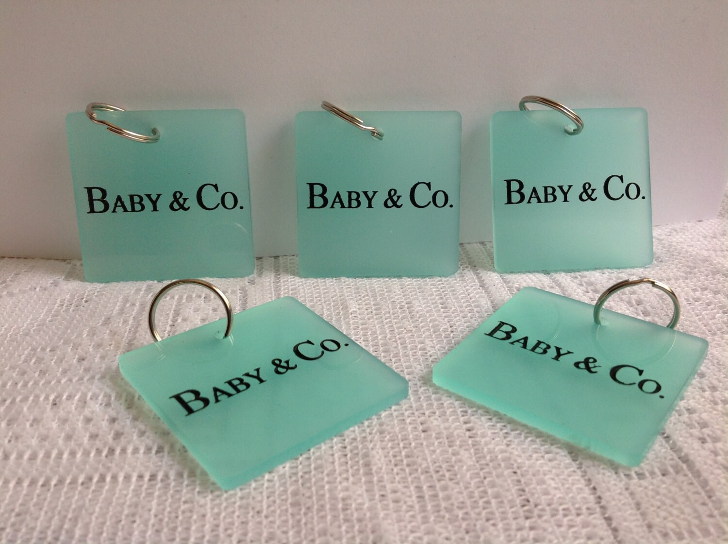 10 tiffany and co inspired key chain favors by marshmallowfavors