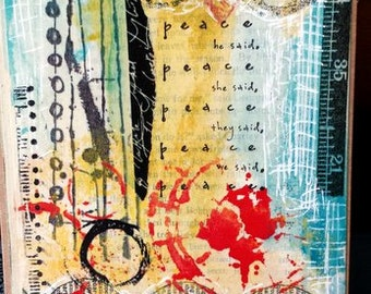Peace Art Card Print from my art journal