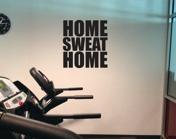 Gym decal home sweat vinyl work out wall art