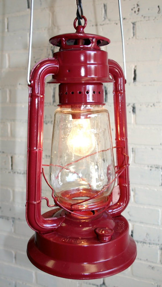 repurposed dietz lantern hanging light vintage by jknoxdesigns