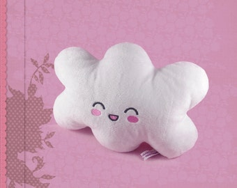Cloud plushie cuddly soft plush kawaii soft toy white