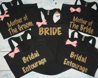 Bridesmaids Tanks 13 Bride Tank Top Bridal Entoruage Wedding Shirts Bachelorette