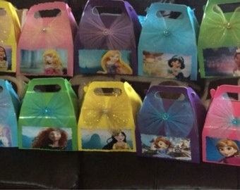 Disney Princesses Birthday Party Favor Candy Box