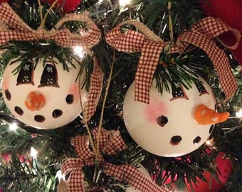Two Snowman Ornaments