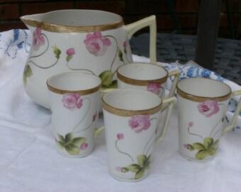 Lemonade Pitcher - Cider Pitcher - Nippon - China - 4 Cups - Vintage