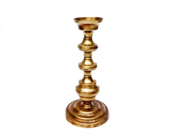 Vintage Brass Candlestick. Shabby chic Old candlestick Antique Home Decor