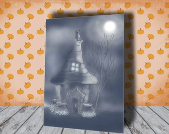 Halloween Village - Fall Decor - October 31 - Vintage Digital Halloween Decor