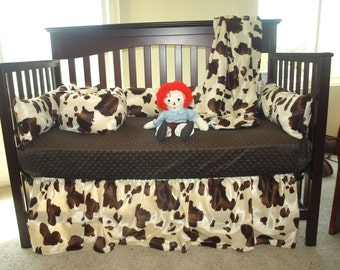 Brown Cow Western Baby Bedding Set