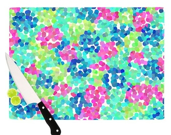 "Cutting Board - Beth Engel ""Flower Garden"" Great Hostess Gift - Matches Placemats!"
