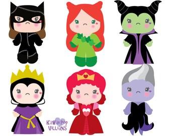 Clipart  Clipart Villian Girls Clipart Halloween Clip art Kawaii Pop culture clipart