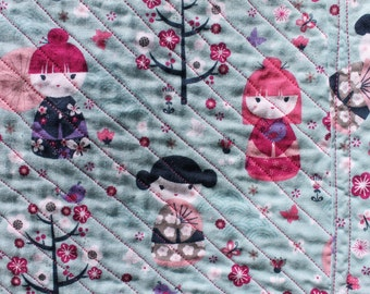 Geisha Cotton and Flannel Chenille Blanket