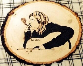 Kurt Cobain wood burning
