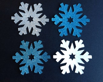 Frozen Glitter Snowflake Tags 5.5cm,  Favour Tags, Frozen Party Snowflake Decorations, confetti X 21