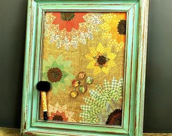 Dry Erase Board, Framed Magnetic Board, Flowers, Magnet Memo Board, Bedroom, Rustic, Dorm, Organizer, Chalkboard, Pastels