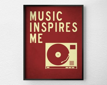 Music Print, Home Decor, Typography Poster, Wall Art, Inspirational Print, Music Poster, Motivational Art, 0269