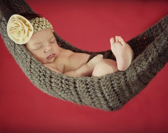 Crocheted Newborn Baby Hammock
