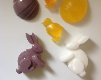 Easter favors etsy x6 novelty easster soaps in variety of your choice easter rabbit easter chick negle Image collections