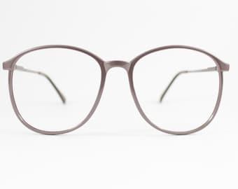 Vintage 1980s Shimmering Mocha Oversized Rounded Eyeglass Frame - Polaris Coffee