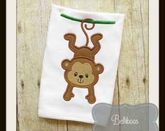 Monkey Applique Design - Monkey Embroidery Design - Animal Applique Design - Zoo Applique Design - Boy Applique - Girl Applique Design