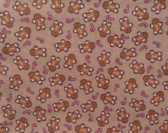 SALE - One Yard of Fabric - Gingerbread Man Toss