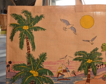 Vintage Big Fort Myers beach Florida bag/tote/purse for beach/travel