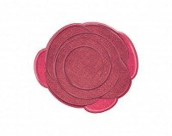 Rose Elegant Includes Both Applique and Stitched