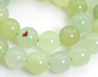 New Jade smooth round beads 12mm,32 pcs