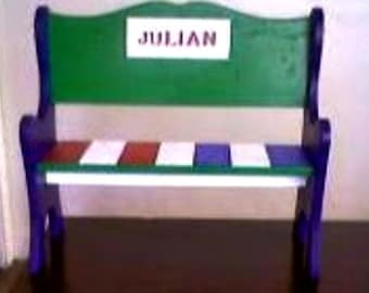 Child's Personalized Wooden Sitting Bench