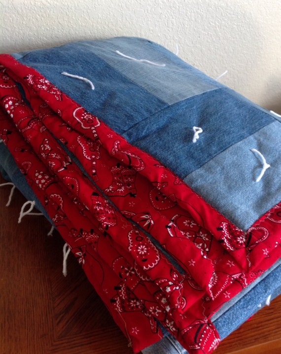 Handcrafted Country Bandana Quilt Full