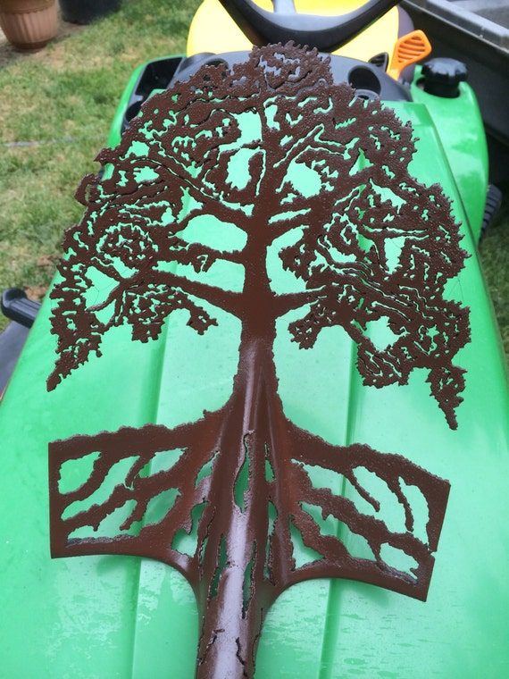 Items Similar To Tree Of Life Plasma Cut Garden Shovel On Etsy
