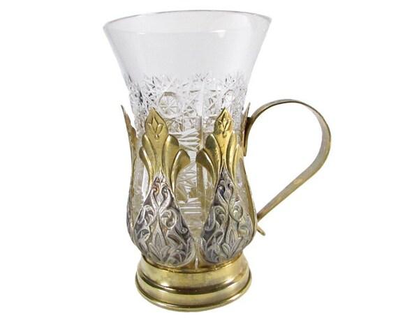 Pair Russian Niello Tea Holder Podstakannik In 875 Sterling
