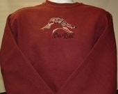 SW9 SALE PRICED! Car Ride Embroidered Greyhound Sweatshirt with Crystals.