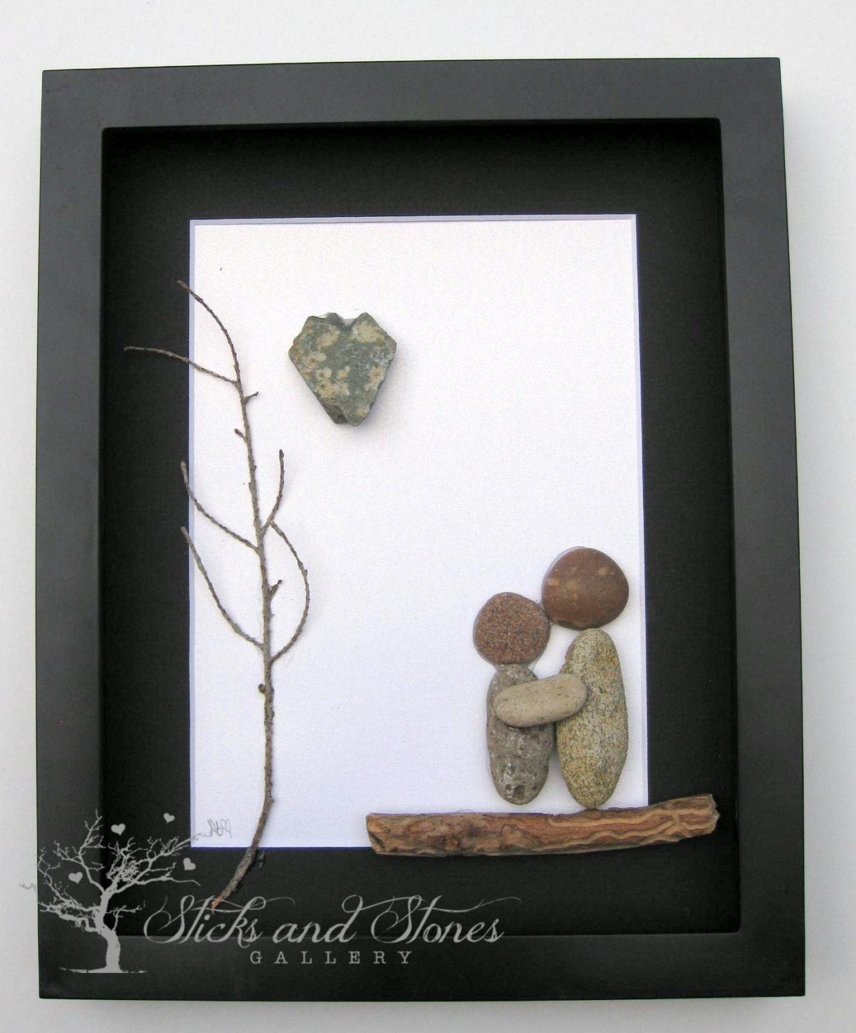 Personalized Wedding Gifts For Couple Uk : Engagement Gift Pebble Art Couples Gift Unique