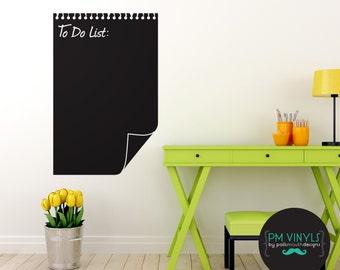 To-Do List Chalkboard Vinyl Decal