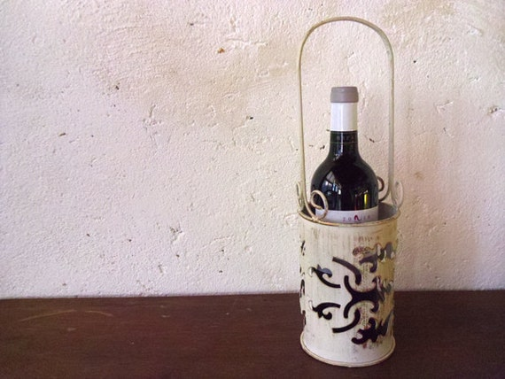 French bottle basket or wire bottle carrier metal wine bottle - Wire wine bottle carrier ...