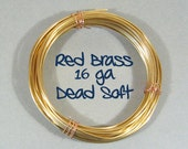 16ga 25ft DS Red Brass Wire