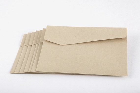 50 A6 Envelopes // Recycled Brown Envelopes // Eco Friendly Kraft Envelopes