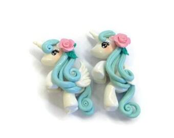 Unicorn Cabochon - Little Pony Claywork 1 pcs -UC061