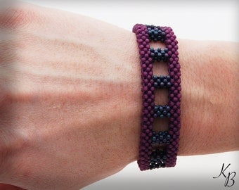 Purple Seed Bead Bracelet